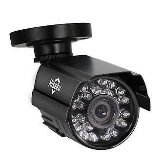 Hiseeu 1000tvl 3.6mm in metallo in metallo analogico visione notturna all'aperto cctv fotocamera impermeabile proiettile fotocamera