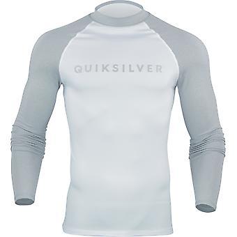 Quiksilver Mens Always There LS Rashguard - Light Gray Heather