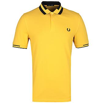 Fred Perry Block Tipped Yellow Polo Shirt