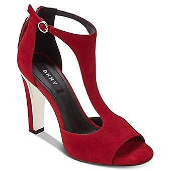 DKNY Colby Ankle Shoes RED Suede 7.5M