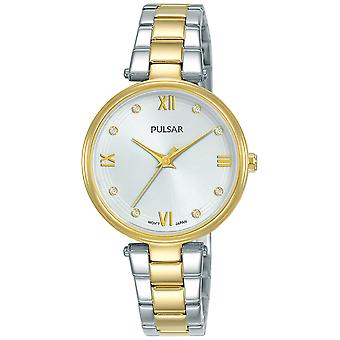 Casual Pulsar Quartz Analog Woman Watch with PH8456X1 Stainless Steel Bracelet