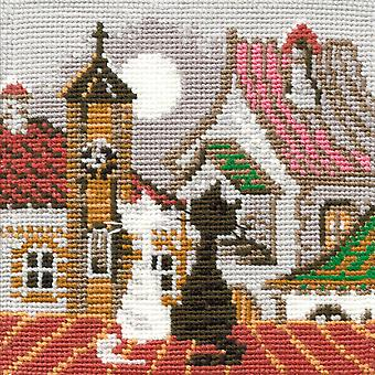 City & Cats Spring Counted Cross Stitch Kit 5