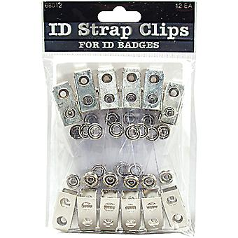 Id Strap Clip 12 Pkg Clear 68012