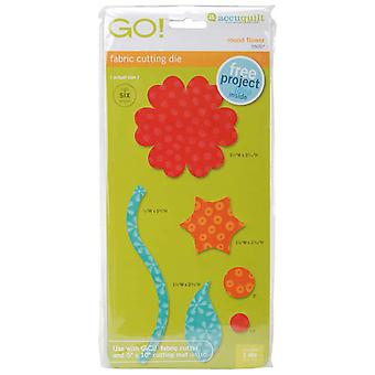 Go! Fabric Cutting Dies Round Flower 550 07
