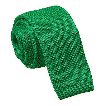 Forest Green Knitted Skinny Tie