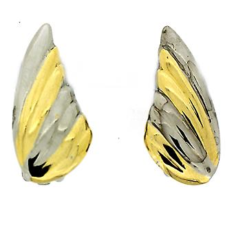 Clip On Earrings Store Silver & Gold Plated Leaf Clip On Earrings
