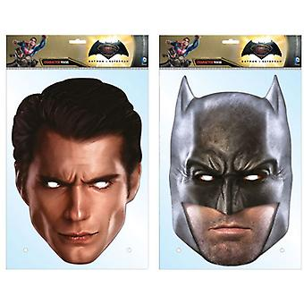Batman v Superman: Dawn of Justice Card Party Face Masks Twin Pack