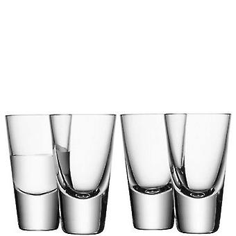 Lsa Bar 100ml glass of vodka Clear x 4