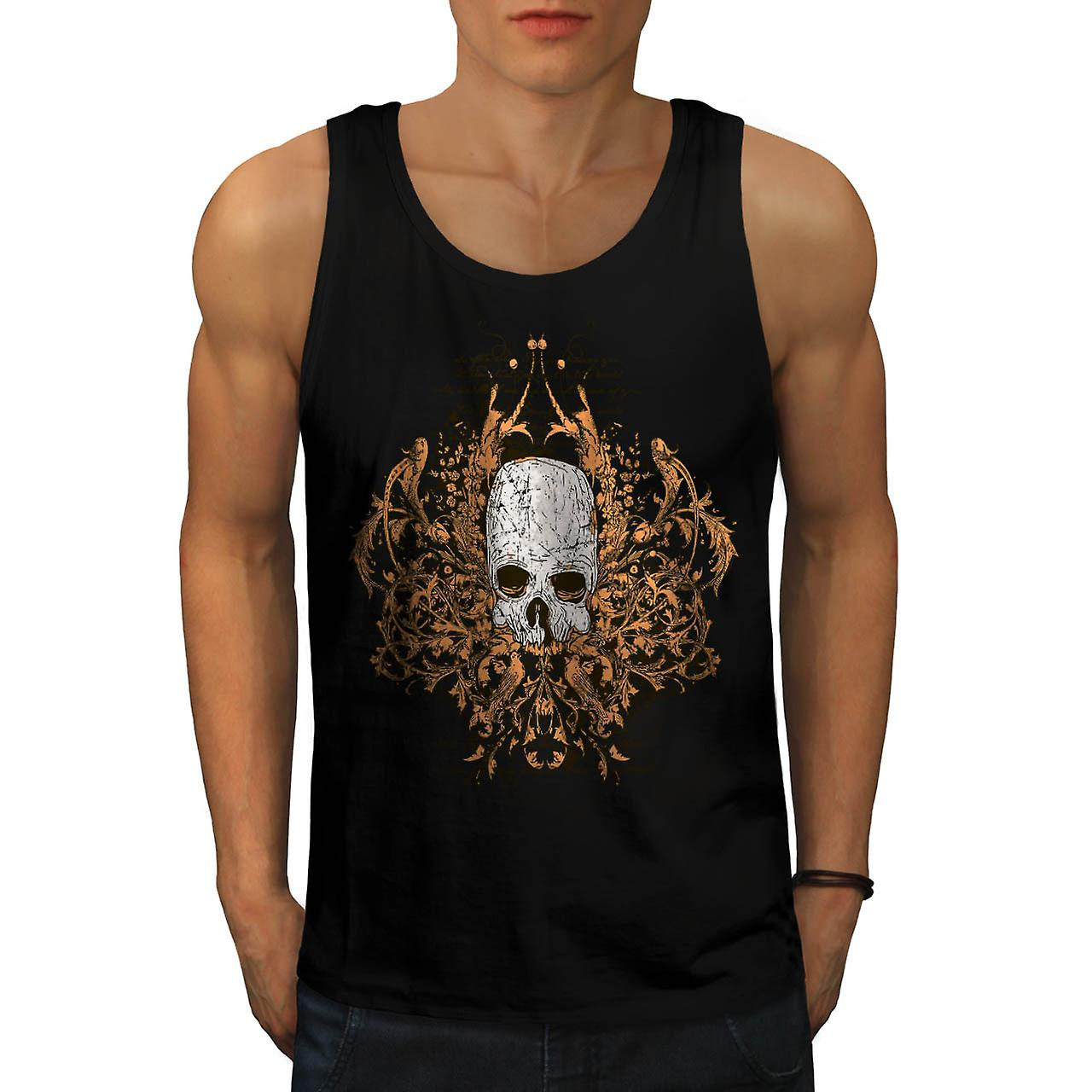 Monster Horror Skull Ghost Story Men Black Tank Top | Wellcoda