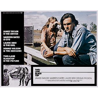 Two-Lane Blacktop Laurie Bird James Taylor 1971 Movie Poster Masterprint