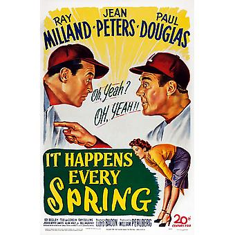 Es passiert jedes Frühjahr U Film Poster Masterprint