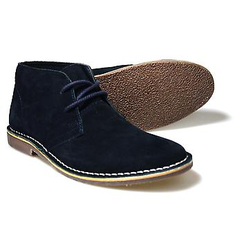 Red Tape Gobi Navy Suede Casual Men's Desert Boots