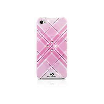 WHITE DIAMONDS Grid Pink iPhone4 incl Crystal Pin 3, 5 mm