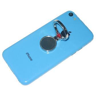 KuKu mobiltelefon mobiltelefon Finger Ring står indehaveren m / spejl - sølv