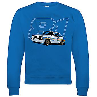 Mk2 Escort RS 1800 1981, Mens Rally Car Sweatshirt