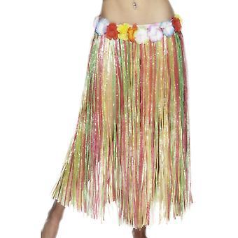 Hawaiian Hula skirt, elastic, multicolor