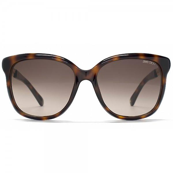 Jimmy Choo Bella Sunglasses In Havana Gold