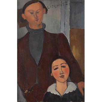 Amedeo Modigliani - Jacques and Berthe Lipchitz Poster Print Giclee