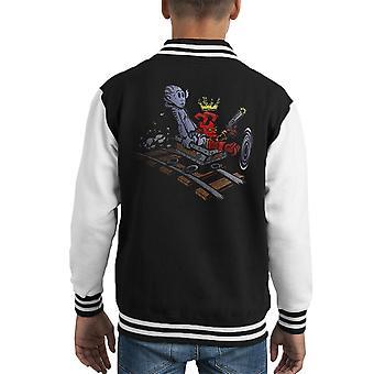Hellboy e Abe Sapien Calvin e Hobbes capretto Varsity Jacket