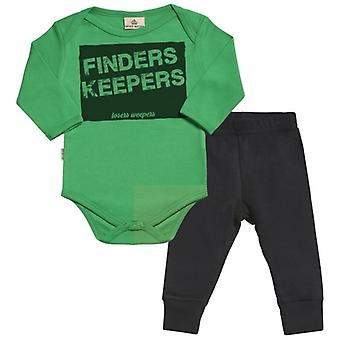 Spoilt Rotten Finders Keepers Babygrow & Jersey Trousers Outfit Set