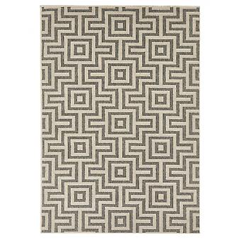 In - and outdoor carpet balcony / living-room maze grey natural, 133 x 190 cm