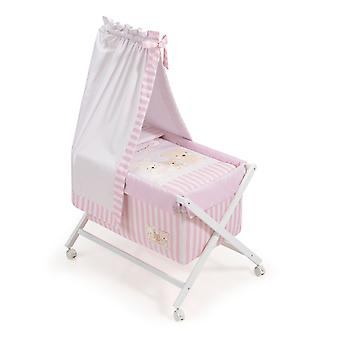 Interbaby Nogal minicuna canopied Model Love Rosa