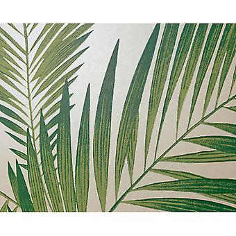 Tropical Palm Tree White Green Wallpaper Leaves Leaf Luxury Weight Arthouse