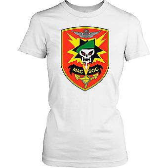 Ladies t-shirt DTG Print - MACV-SOG Special Forces Badge -