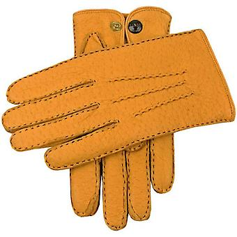 Dents Trafalgar Cashmere Lined Peccary Leather Gloves - Cork