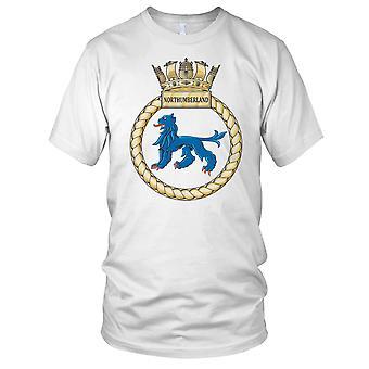 Royal Navy HMS Northumberland Mens T Shirt