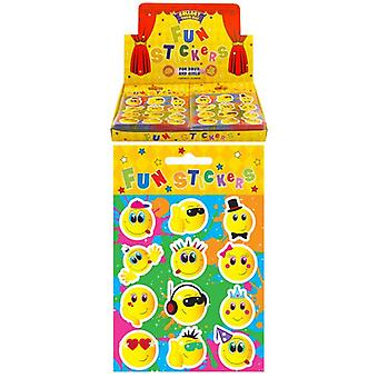 120 Packs of 12 Smiley Stickers