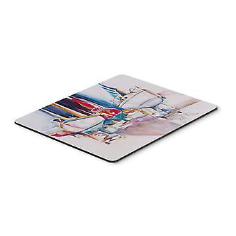 Sailboats in Dry Dock Mouse Pad, Hot Pad or Trivet