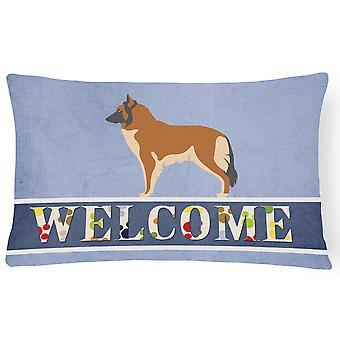 Belgian Tervuren Welcome Canvas Fabric Decorative Pillow