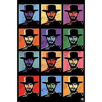 Clint Eastwood - Pop Art Poster Poster Print