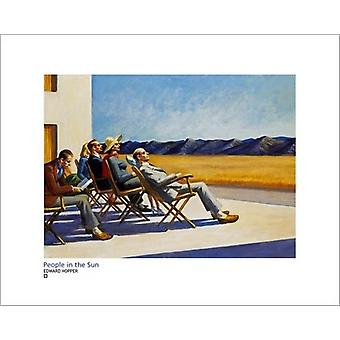 People In The Sun Poster Print by Edward Hopper (20 x 16)
