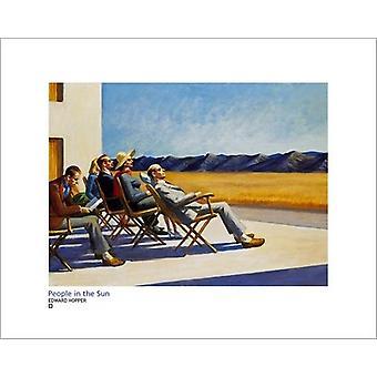 Människor i solen affisch skriva ut av Edward Hopper (20 x 16)