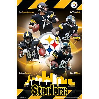 Pittsburgh Steelers - Team 15 Poster afdrukken