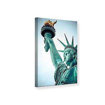 Estatua de la libertad de impresión de lona