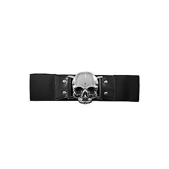 Kreepsville 666 Black Skull Elastic Waist Belt