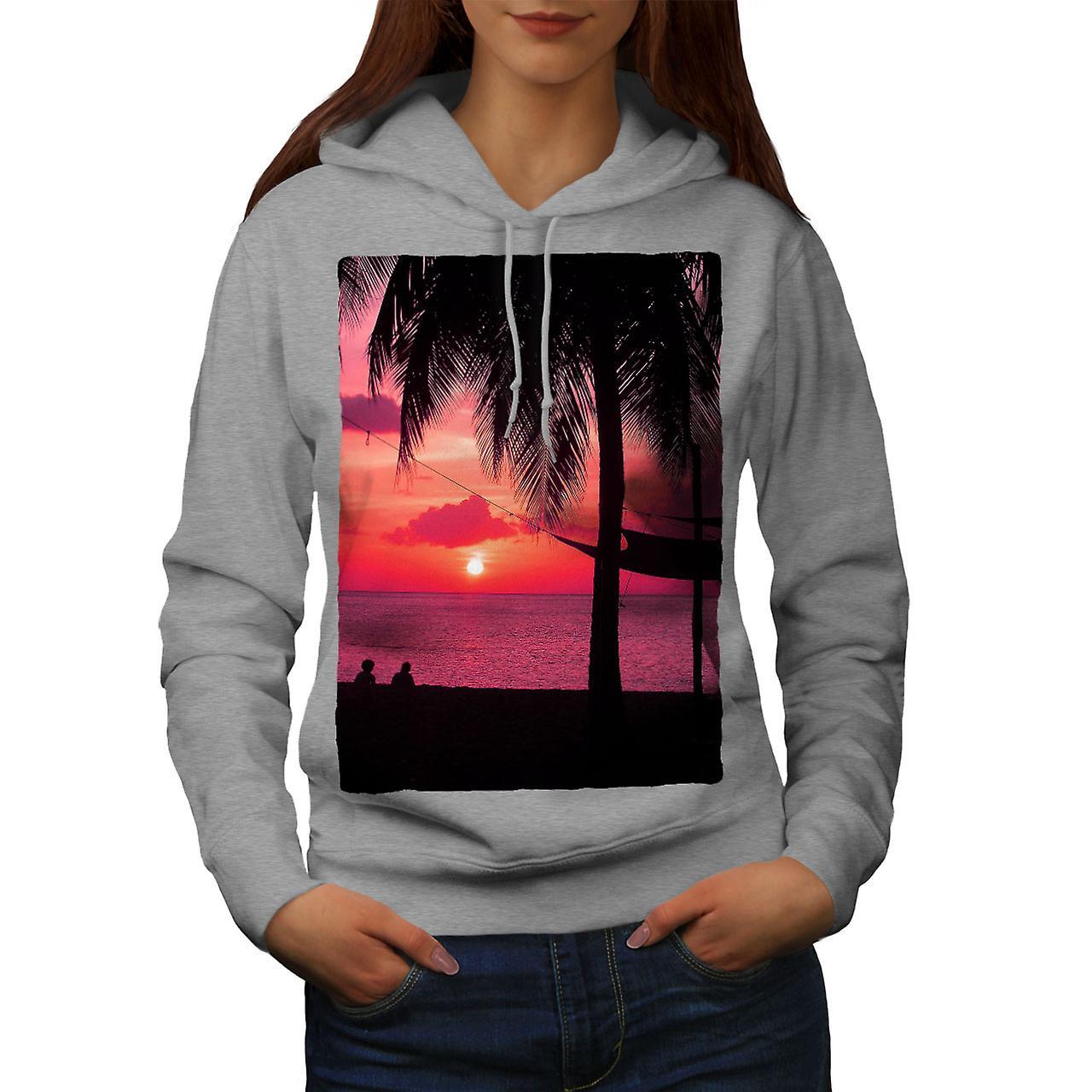 grisHoodie de femmes de coucher de soleil rohommetique