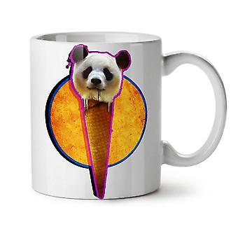 Panda Cone Space NEW White Tea Coffee Ceramic Mug 11 oz | Wellcoda