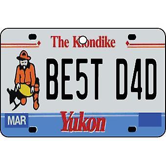 YUKON - Best Dad License Plate Car Air Freshener