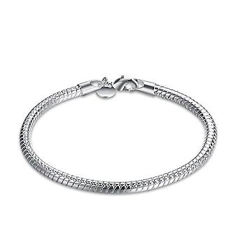Womens Snake Skin Design Silver Modern Bracelet Bangle