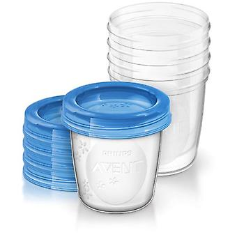 Philips Containers for Breast Milk 5 Units and Lids