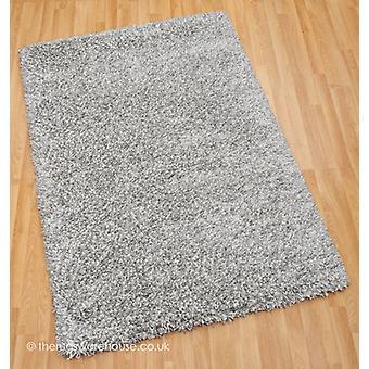 Crepúsculo de plata blanca alfombra