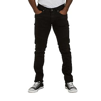 Skinny Fit Mens Jeans - Black Slim fit Jeans with stretch Mens Pants