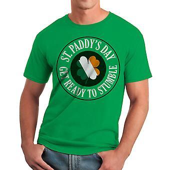 Humor Get Ready To Stumble Men's Kelly Green T-shirt