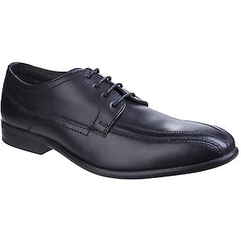 Base London Mens Gilmore Sleek Formal Waxy Leather Derby Shoes