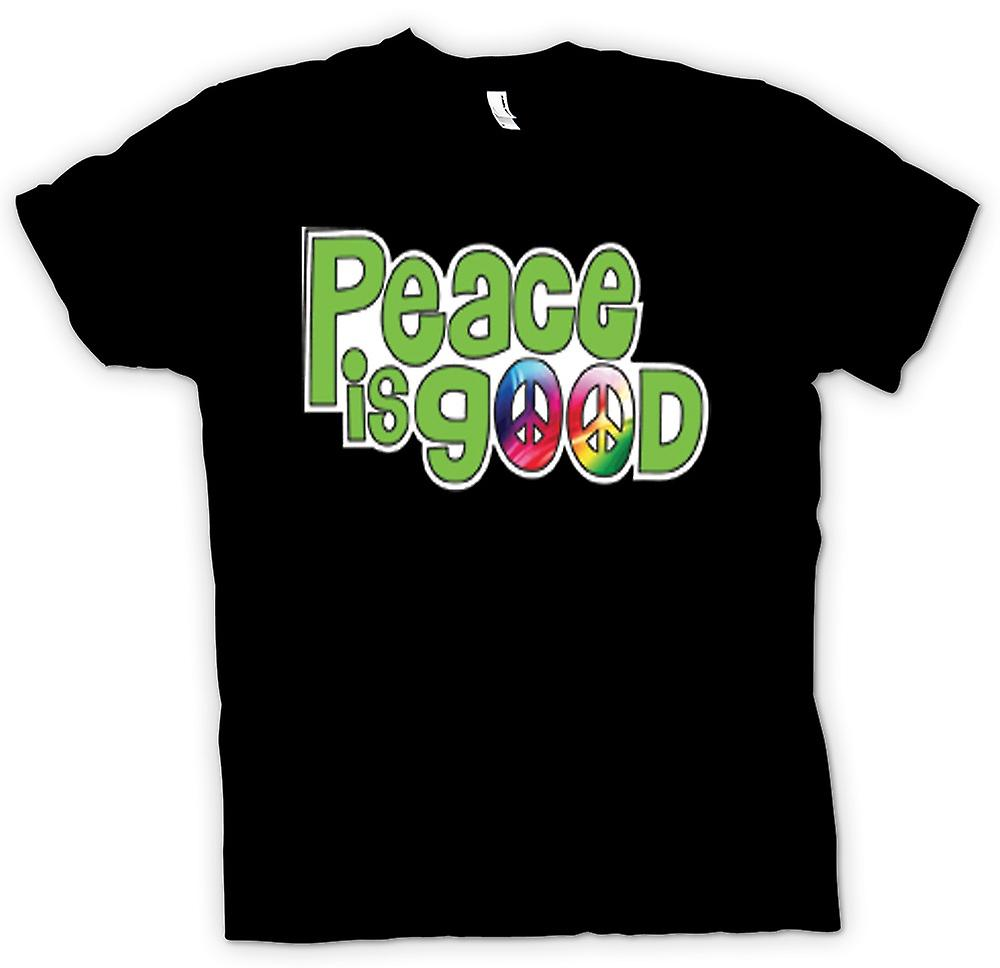Womens T-shirt - Peace Is Good - Lettering