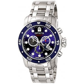 Invicta  Pro Diver 0070  Stainless Steel Chronograph  Watch